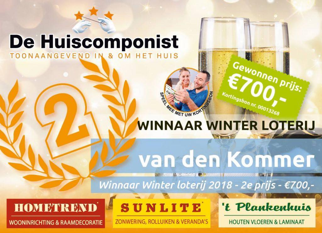 Winnaar winter loterij '18 '19